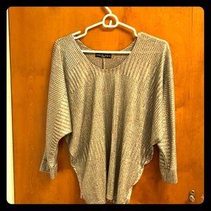 Sparkling silver blouse
